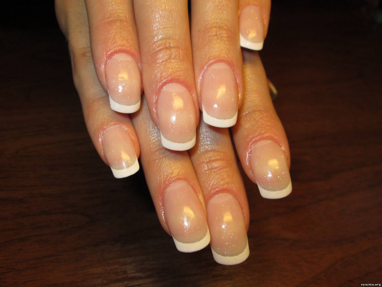 Покрытые гелем ногти без наращивания фото